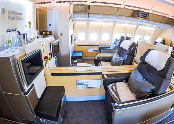 Lufthansa First Class Dubai Munich A330-300 Cabin