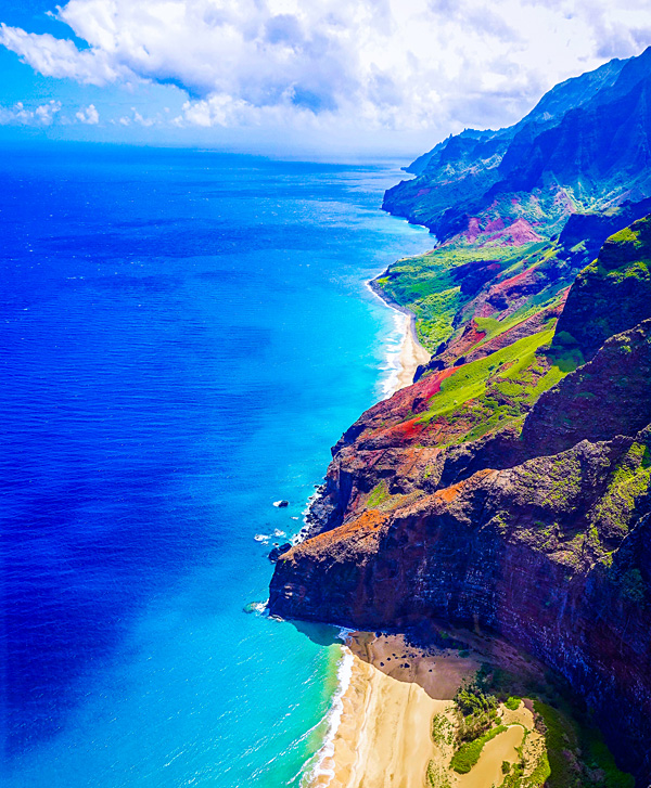 mind blowing Na Pali Coast Kauai Hawaii