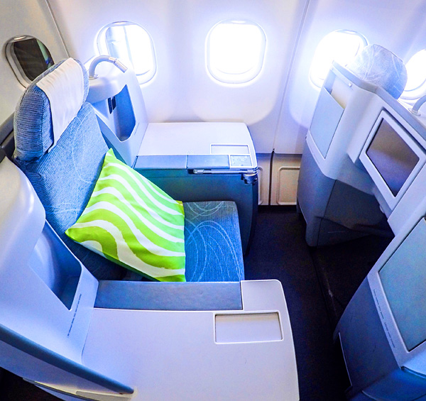 My throne onboard Finnair A330-300 Business Class Helsinki to New York