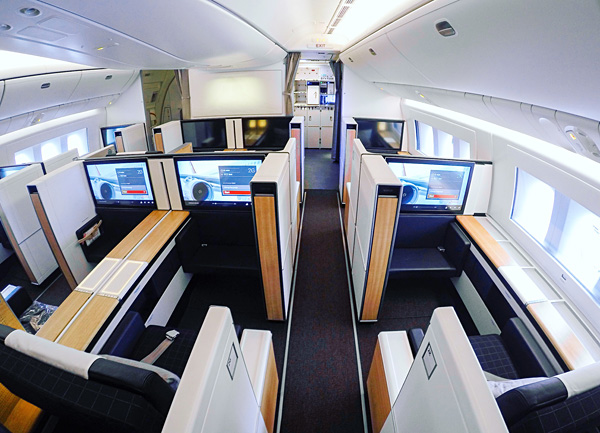 New SWISS First Class Cabin on B777-300ER