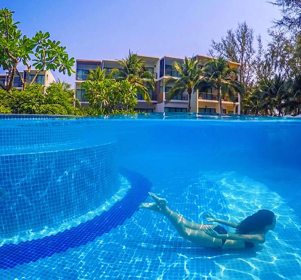 Pool at Holiday Inn Mai Khao Beach , Phuket, Thailand