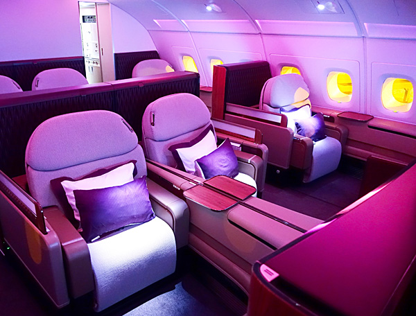 Qatar Airways A380 First Class Doha to Bangkok