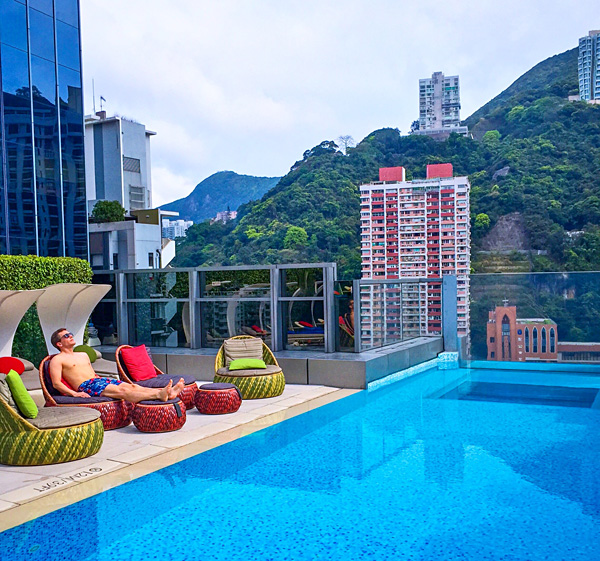 Rooftop pool at Hotel Indigo Hong Kong Island