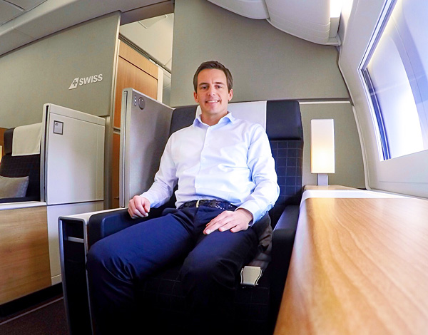 First Class Seat 2A on the brand new SWISS B777-300ER