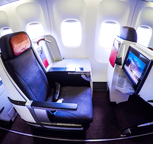 Austrian Airlines B767-300 business class