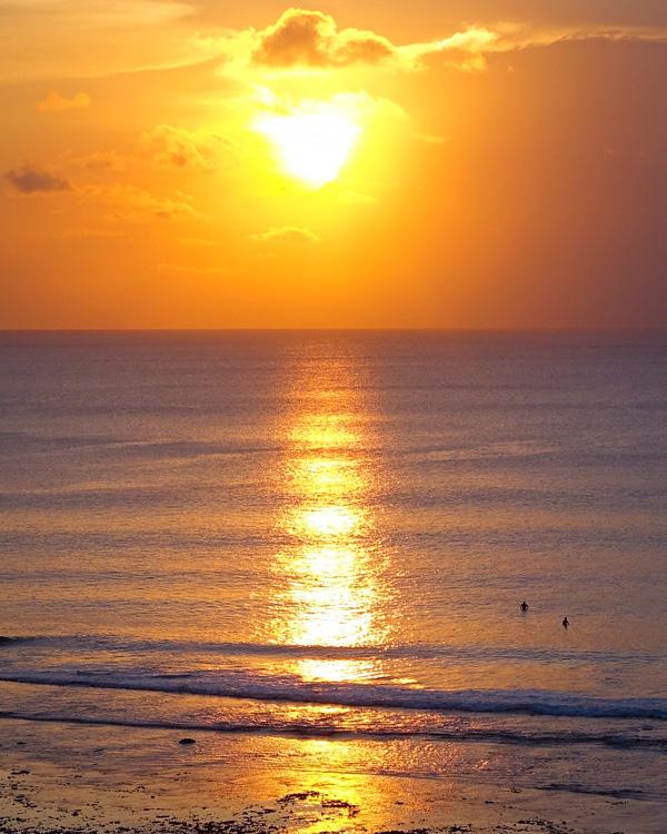 Balinese sunset seen from Anantara Uluwatu Bali