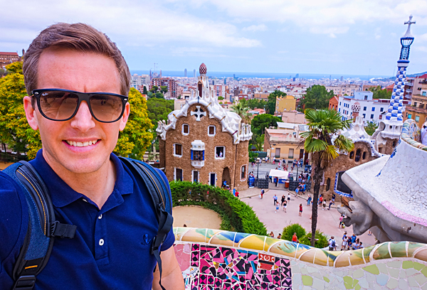 Bart Lapers at Park Guell Barcelona Gaudi
