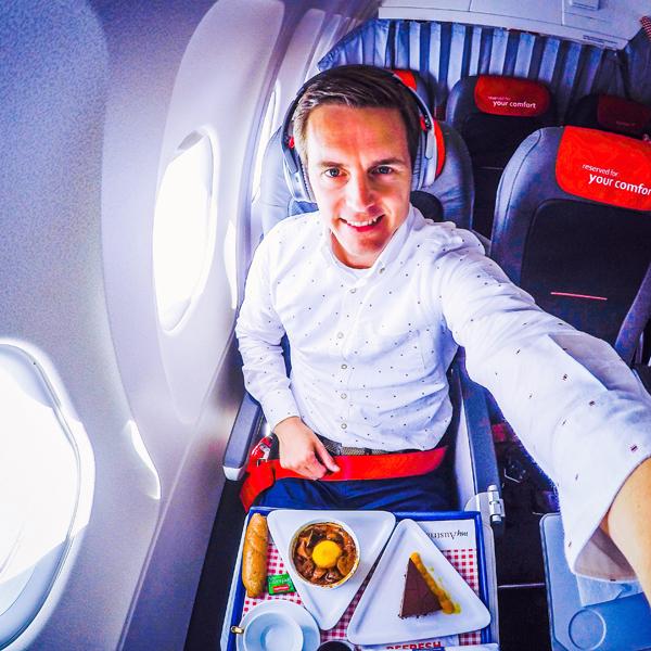 bart lapers Austrian Airlines short haul business class