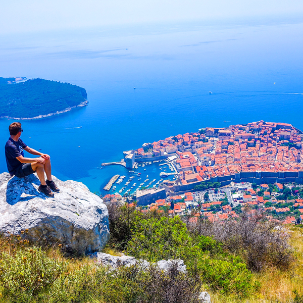Bart Lapers Dubrovnik seen from Fort Imperial Srd Mountain