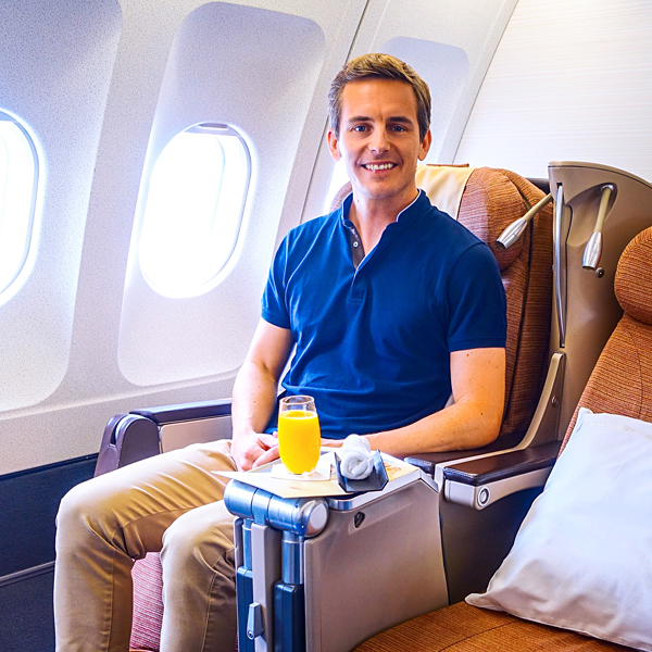 Bart Lapers Philippine Airlines Business Class A340-300 Manila London