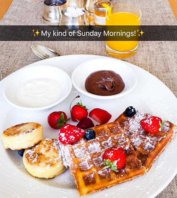 breakfast at InterContinental Club Lounge Kiev