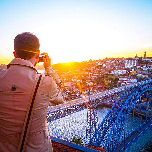 Sunset in Porto