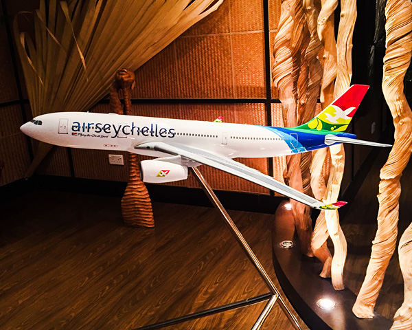Air Seychelles A330-200 model lounge mahe
