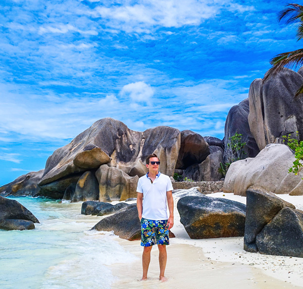 Bart Lapers at Anse Source D'Argent La Digue