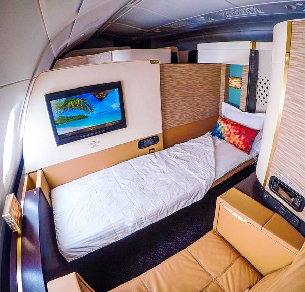Etihad A380 First Class Apartment Full Flat Bed