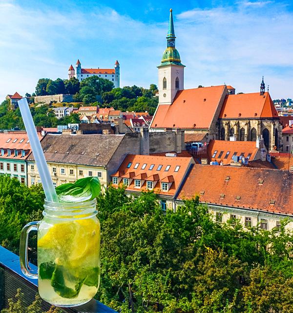 Lemon Fresh at Bratislava Sky Bar Slovakia