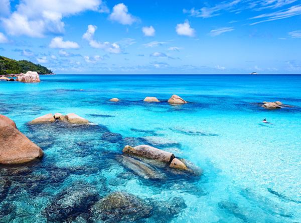 Snorkeling Anse Lazio beach Seychelles