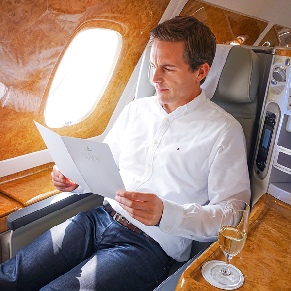 Bart Lapers Emirates A380 Business Class