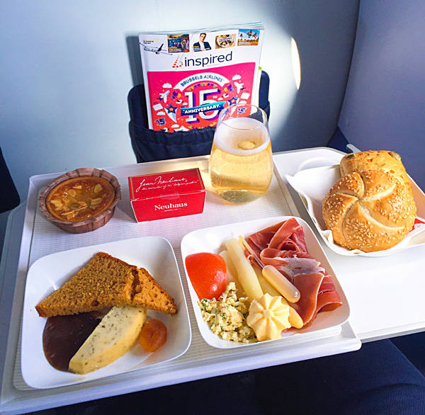 Brussels Airlines European Business Class Meal