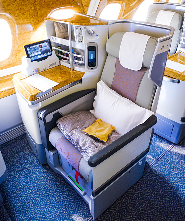 Emirates A380 Business Class Upper Deck