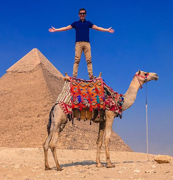 Camel ride at Pyramids Of Giza, Cairo, Egypt