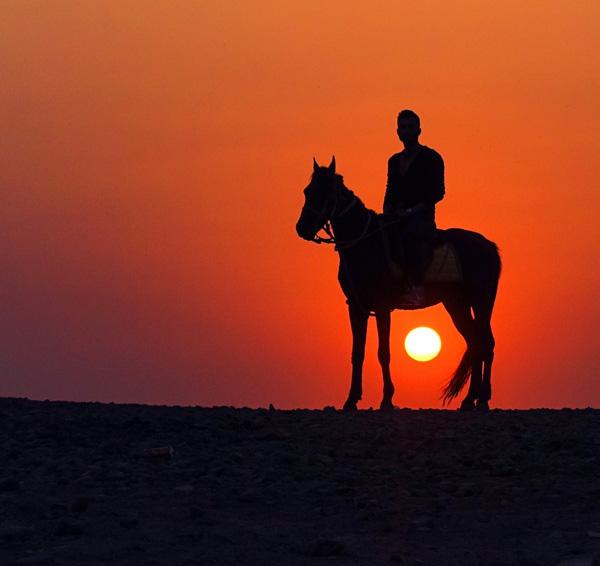 Sunset near Pyramids Of Giza, Cairo