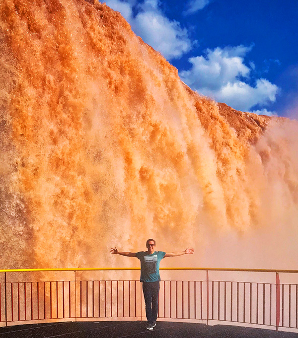 Bart Lapers at Iguacu Falls Brazil
