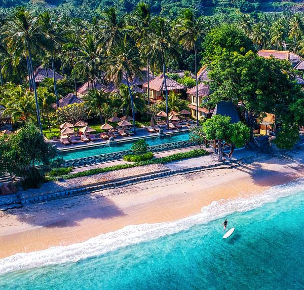 Qunci Villas Lombok Beach July 2017