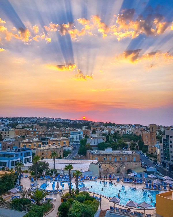 Sunset at InterContinental Malta