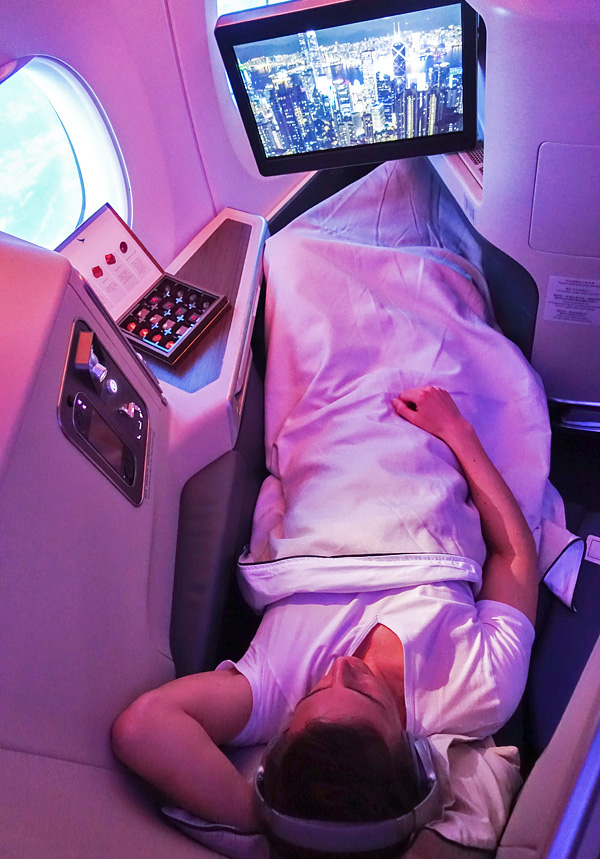 Cathay Pacific A350 Business Class Seat 12A Bart Lapers