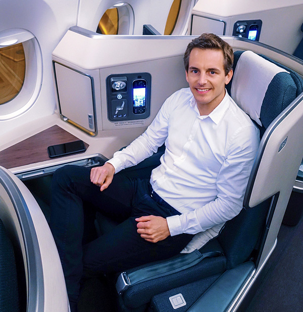 Cathay Pacific A350 Business Class Seat 18K Bart Lapers