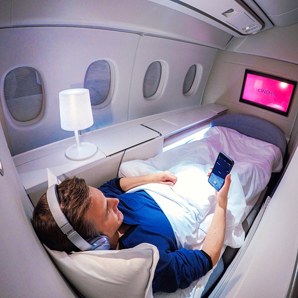 Air France La Premiere First Class Bart Lapers B777-300 Paris to Los Angeles April 2018