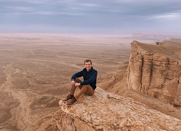 Bart Lapers at the Edge of the World, Saudi Arabia