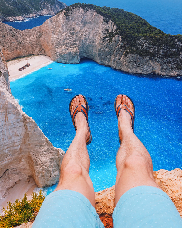 Shoe Selfie Shipwreck Beach Zakynthos Island Greece Bart Lapers June 2018