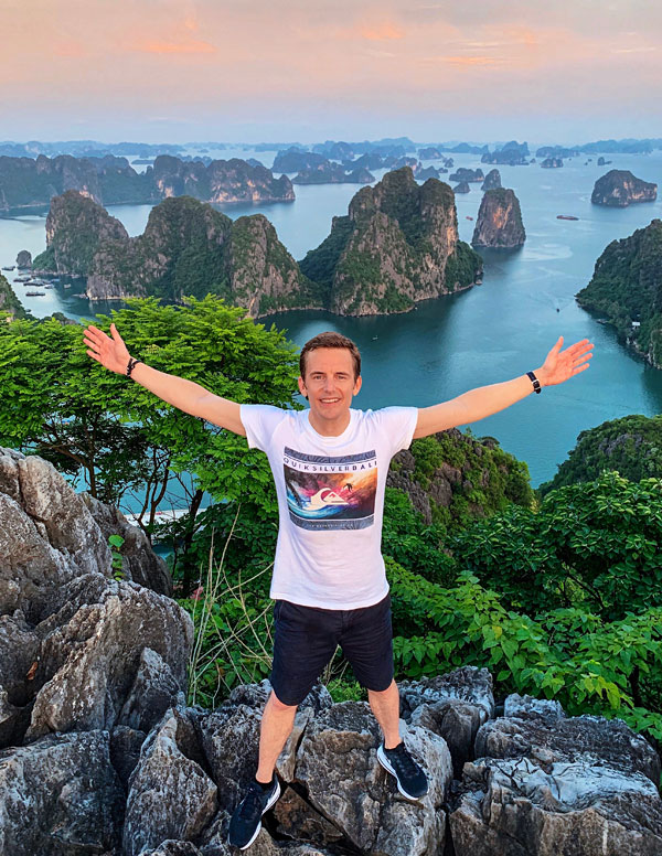 Bart Lapers at Bai Tho Mountain Halong Bay 2019