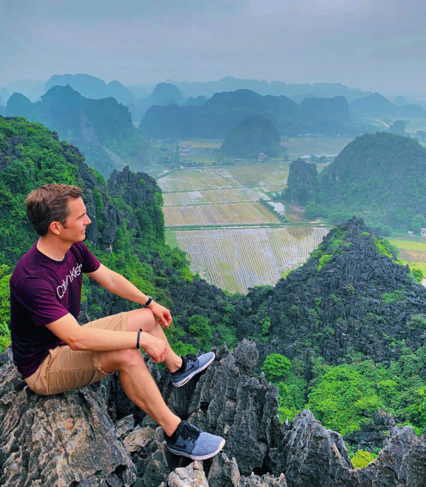 Bart Lapers at Mua Caves Ninh Binh Vietnam 2019