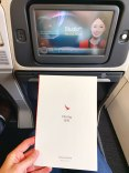 Cathay Dragon A320 Business Class Menu Cover