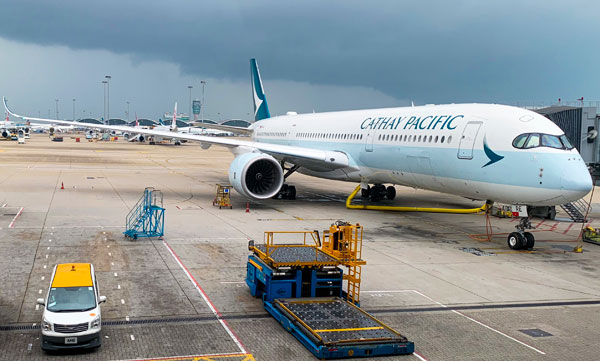 Cathay Pacific A350-900 Hong Kong Airport