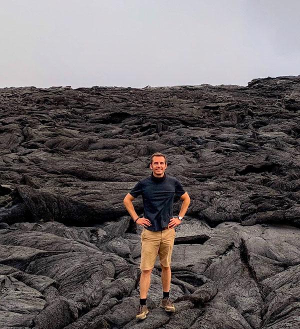 Lava at Crater of Erta Ale volcano in Ethiopia