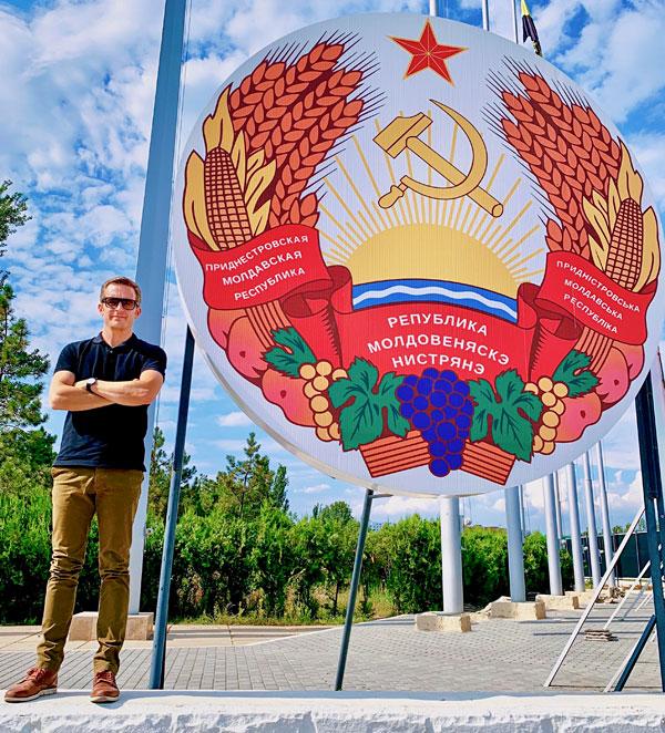 Bart Lapers in Tiraspol Transnistria Moldova