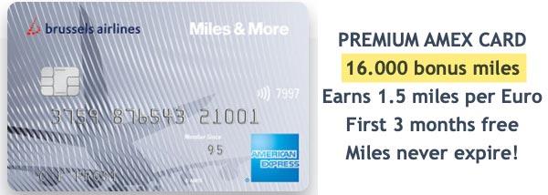 Brussels Airlines Premium American Express Card 16.000 bonus miles