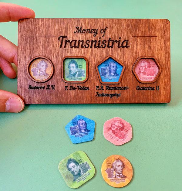 Famous Transnistrian plastic money coins Transnistrian ruble