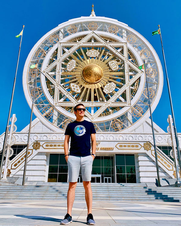 The Alem Center Turkmenistan the world's largest indoor ferris wheel