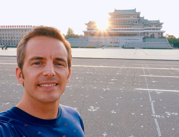 Bart Lapers at Grand Peoples Study House in Pyongyang