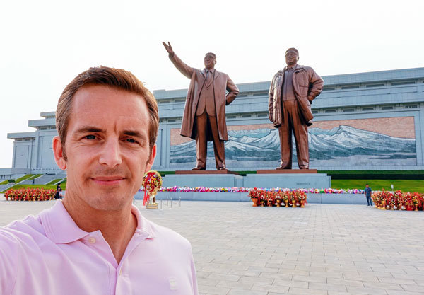 Bart Lapers at Mansu Hill Grand Monument in Pyongyang