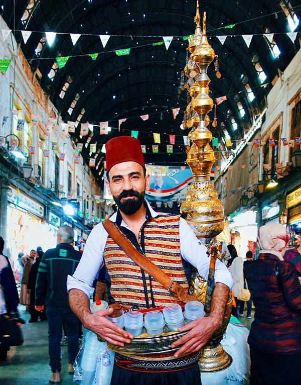 Juice seller at Al-Hamidiyah Souq Damascus