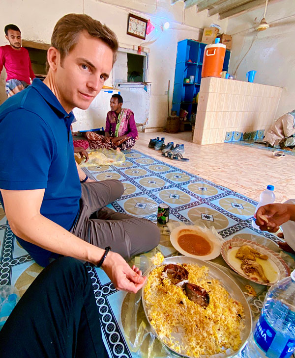 lunch with locals in hawf yemen