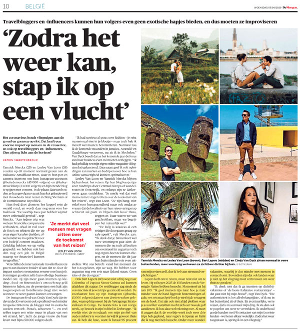 De Morgen Bart Lapers June 3 2020
