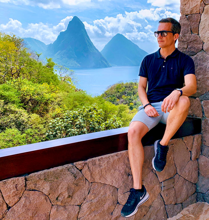 Bart Lapers at the Pitons Saint-Lucia February 2020