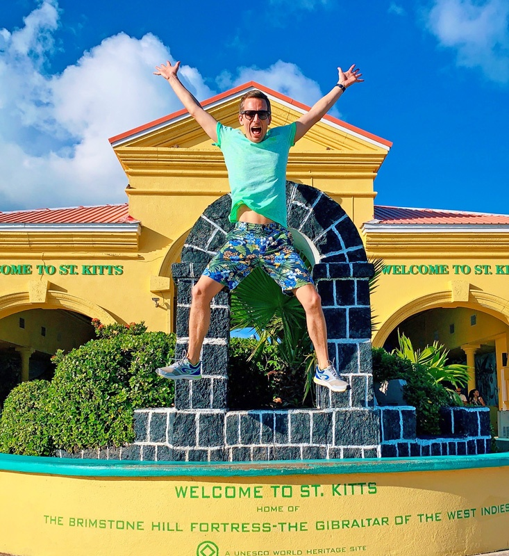 Bart Lapers at Saint Kitts and Nevis UN country 100